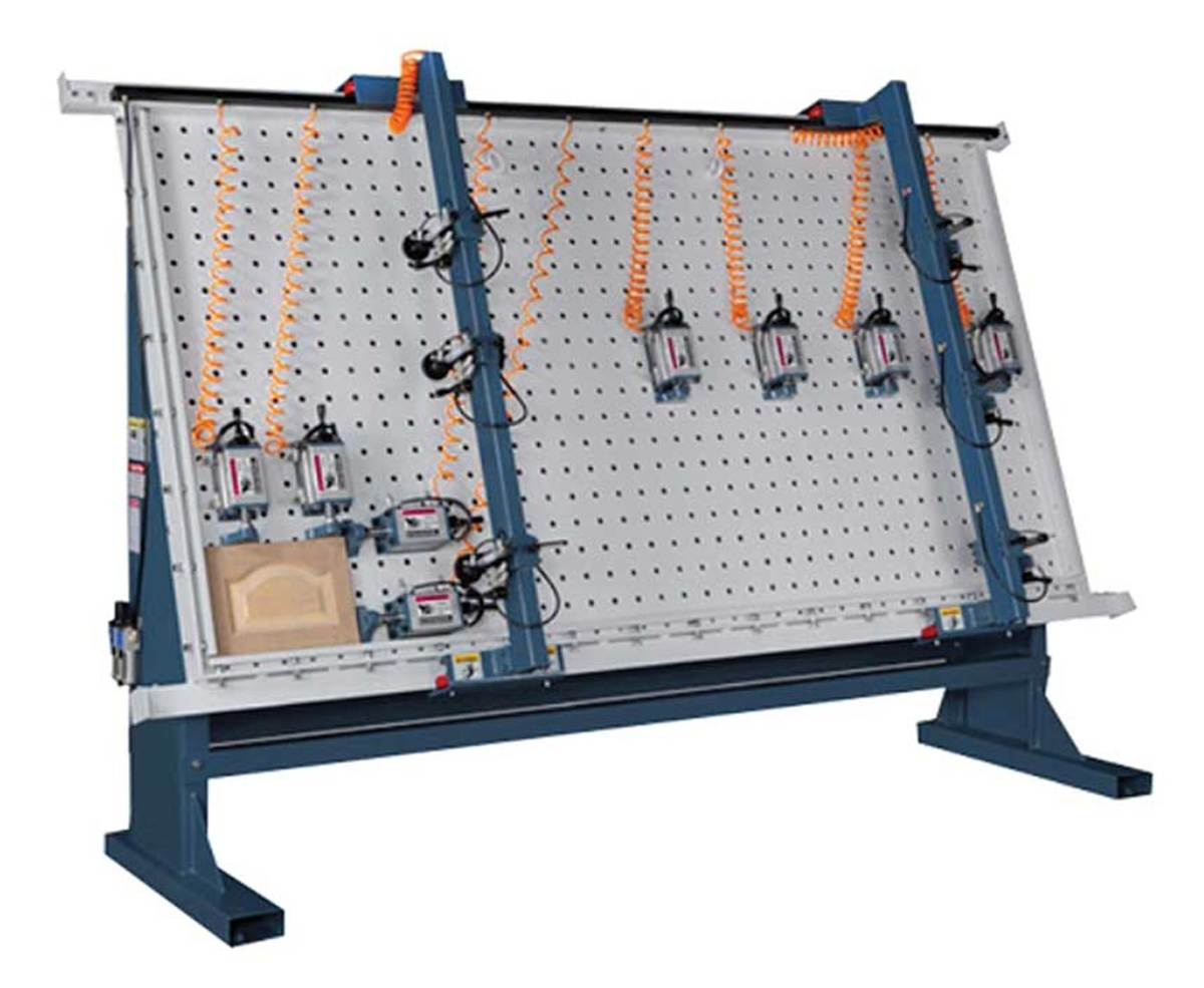 Castaly Machine's pneumatic assembly table.