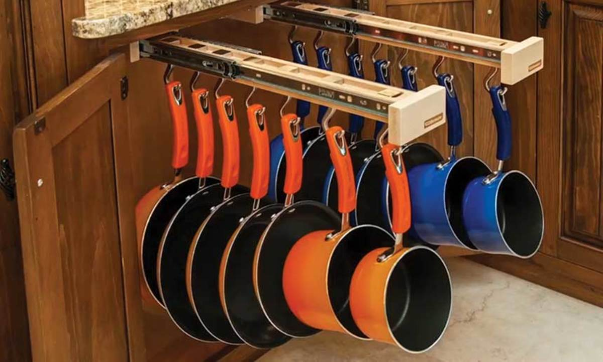 Glideware pull-outs from Rev-A-Shelf.