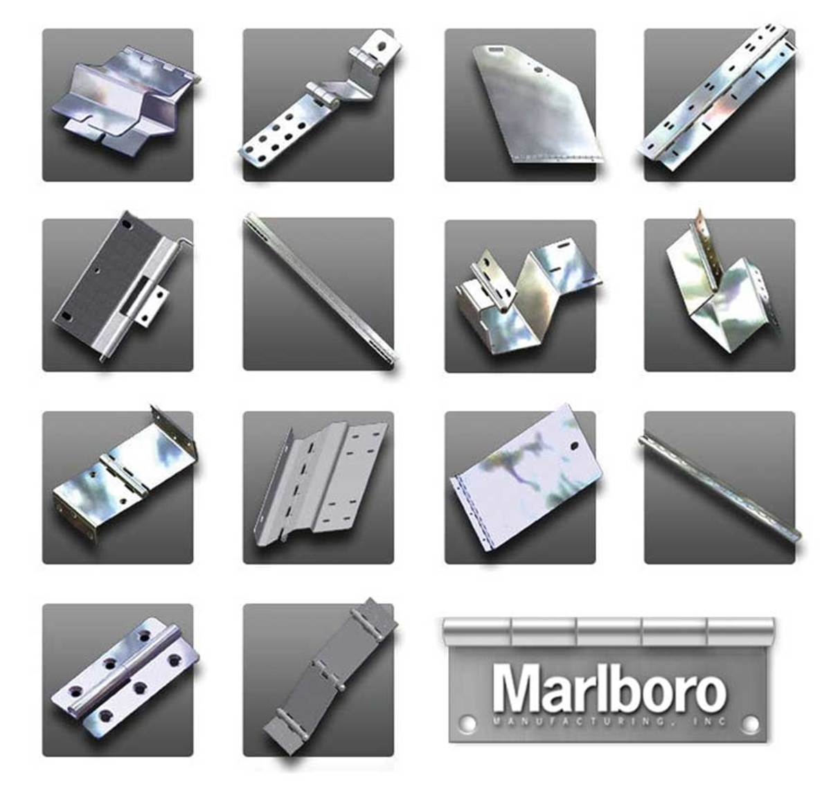 Speciality hinges available from Marlboro Mfg.