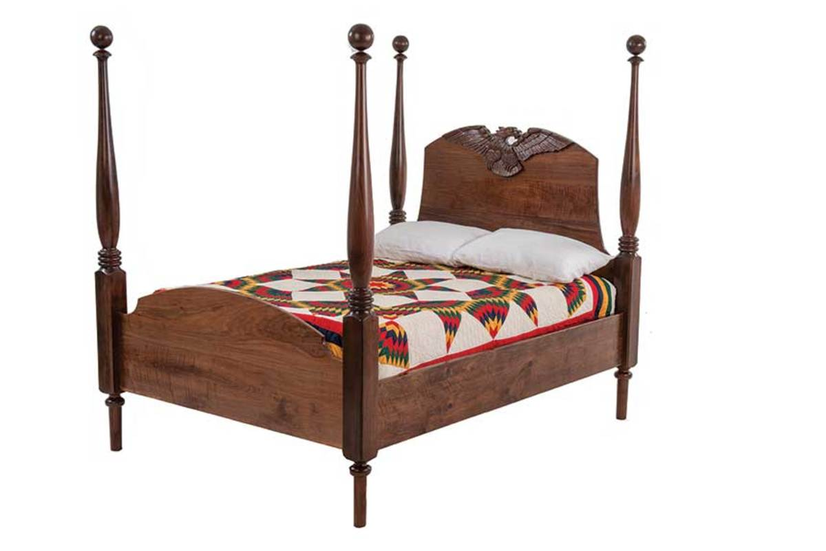The Chattanooga Show and Sell featured this four-post bed with carved headboard.