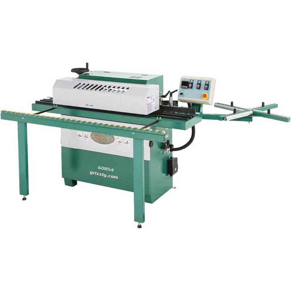 Grizzly's compact automatic edgebander, model G0854.