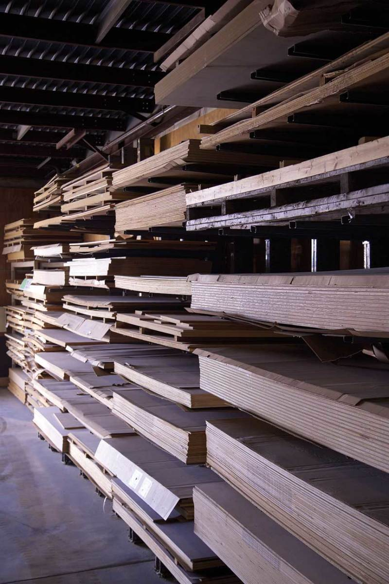 The sheet good inventory at Kountry Kraft in Newmanston, Pa.