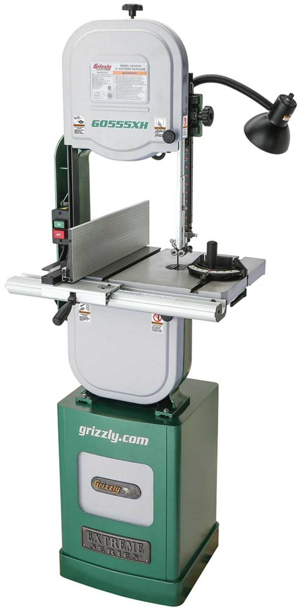 "Grizzly's new 14"" Extreme Series resaw band saw, model G0555XH."