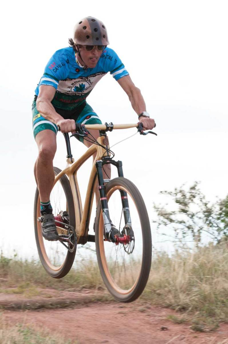 Wooden-frame bicycles are challenging to make and provide a softer ride.