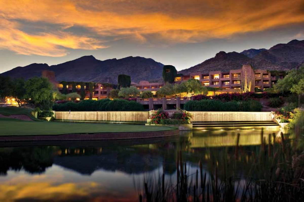 Sunset at Loews Ventana Canyon Resort in Tuscon, Ariz.
