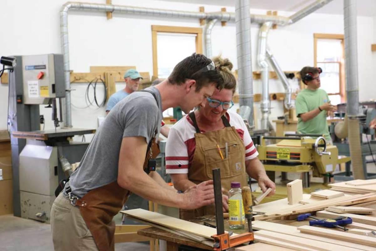 The Center for Furniture Craftsmanship's Teaching the Teachers program will offer eight scholarships in 2019.