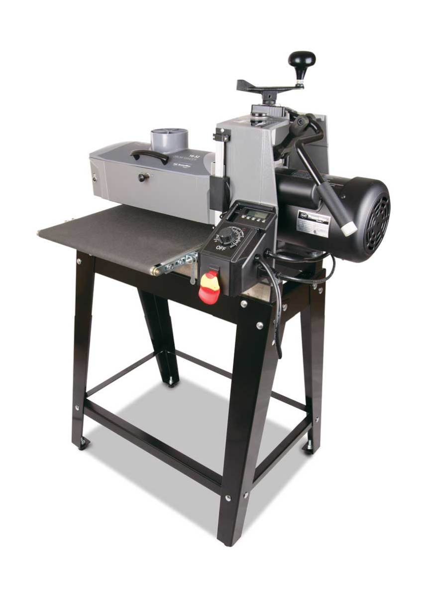 "The Supermax 16-32 can sand workpieces up to 32"" wide in two passes."