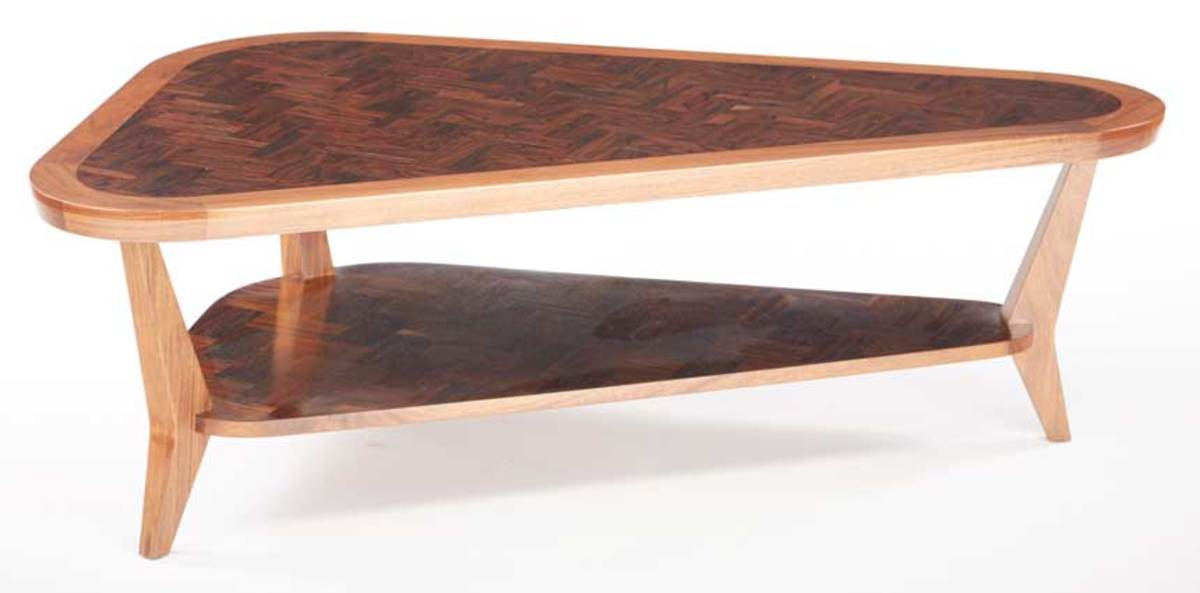 William Strenger's coffee table, winner of Best Contemporary Furniture in the 2017 Design in Wood competition.