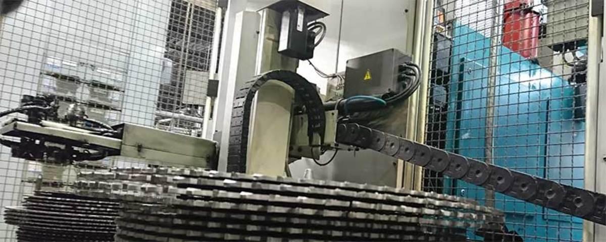 Saw blade sharpening at FS Tool in Lewiston, N.Y.