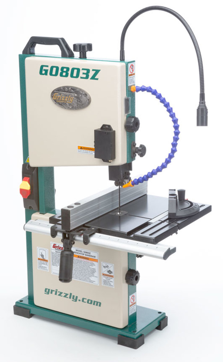 New benchtop bandsaw from Grizzly - Woodshop News