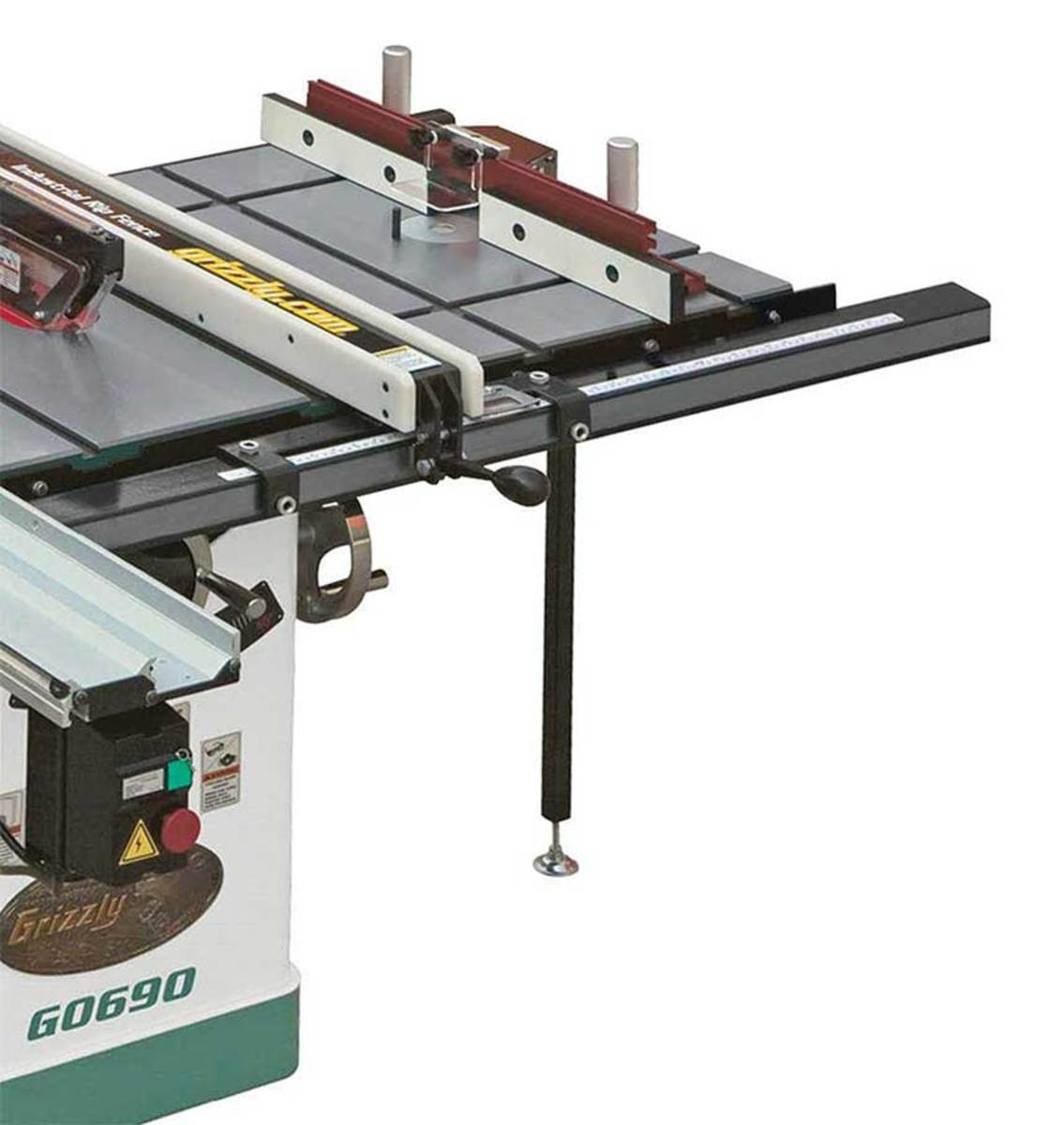 Grizzly's T10223 sliding table saw attachment.