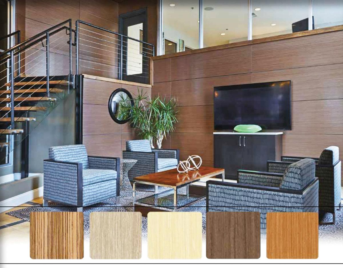 Echo Wood PFP from Hardwoods Inc.; (opposite page) Columbia UV Wood panels.