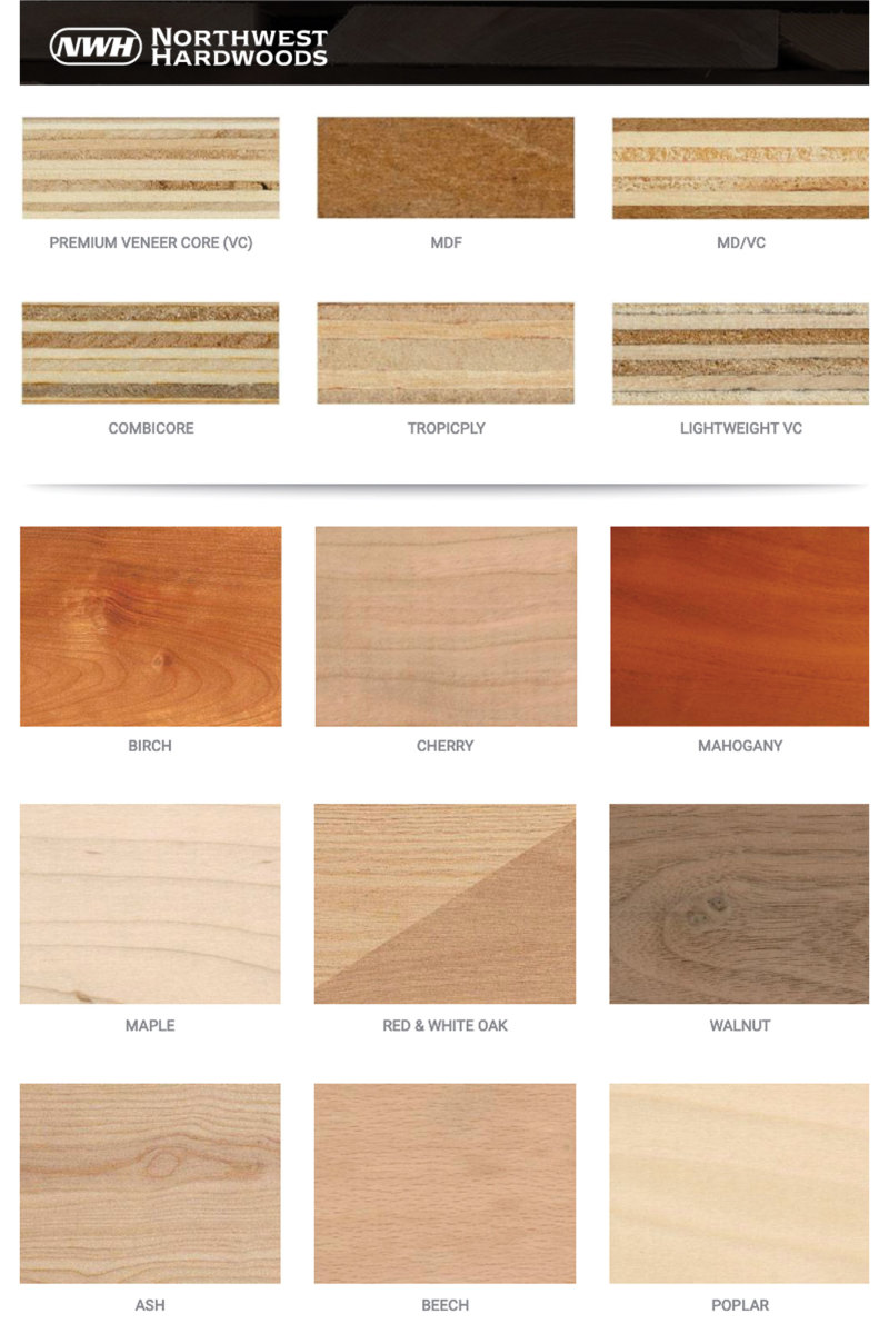 Northwood Hardwoods offers prefinished plywoods in 14 domestic and 25 exotic species.