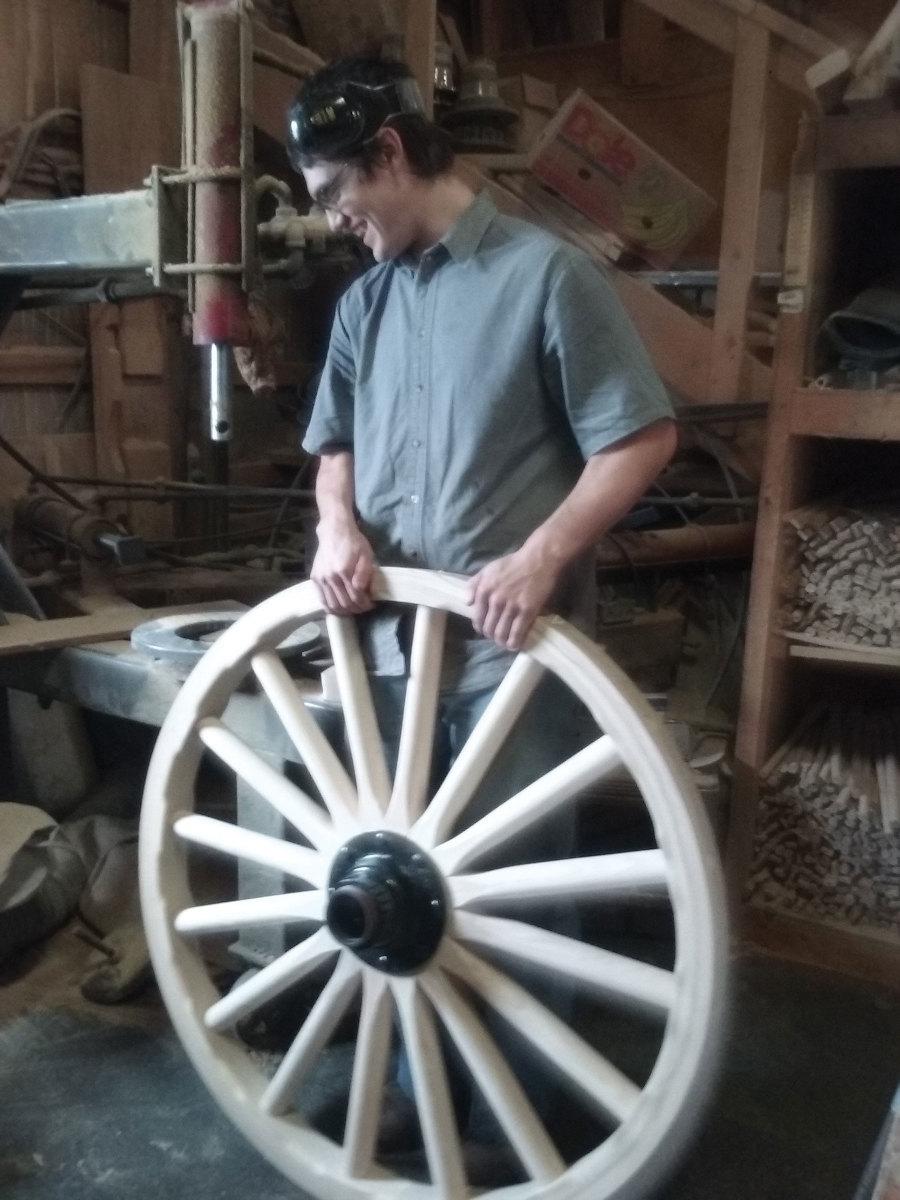 A tour of an Amish wheel maker's shop
