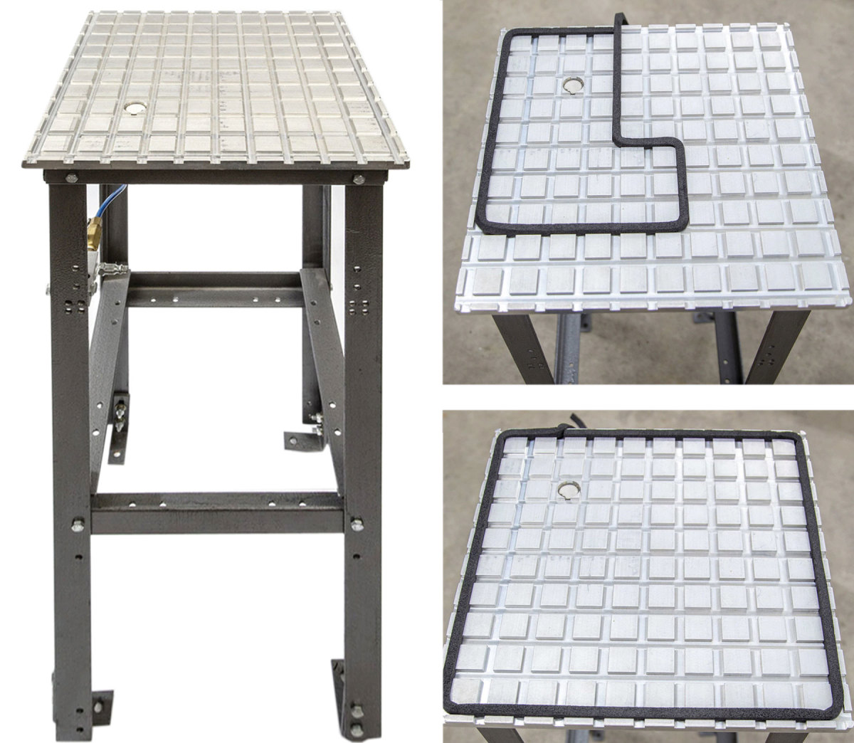 The new vacuum table from Betterly Tools accepts gasket material.
