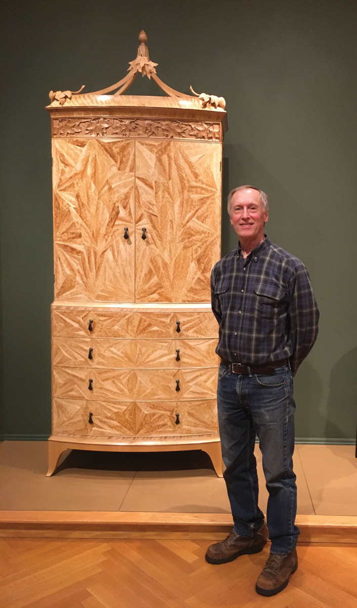 David Lamb with his New Hampshire secretary, commissioned by the Currier Museum of Art in Manchester, N.H.