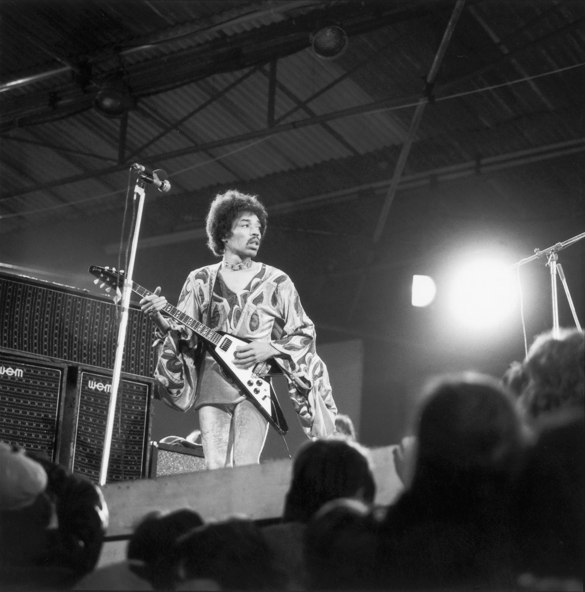Hendrix playing the '69 Flying V and the limited-edition reproductions.