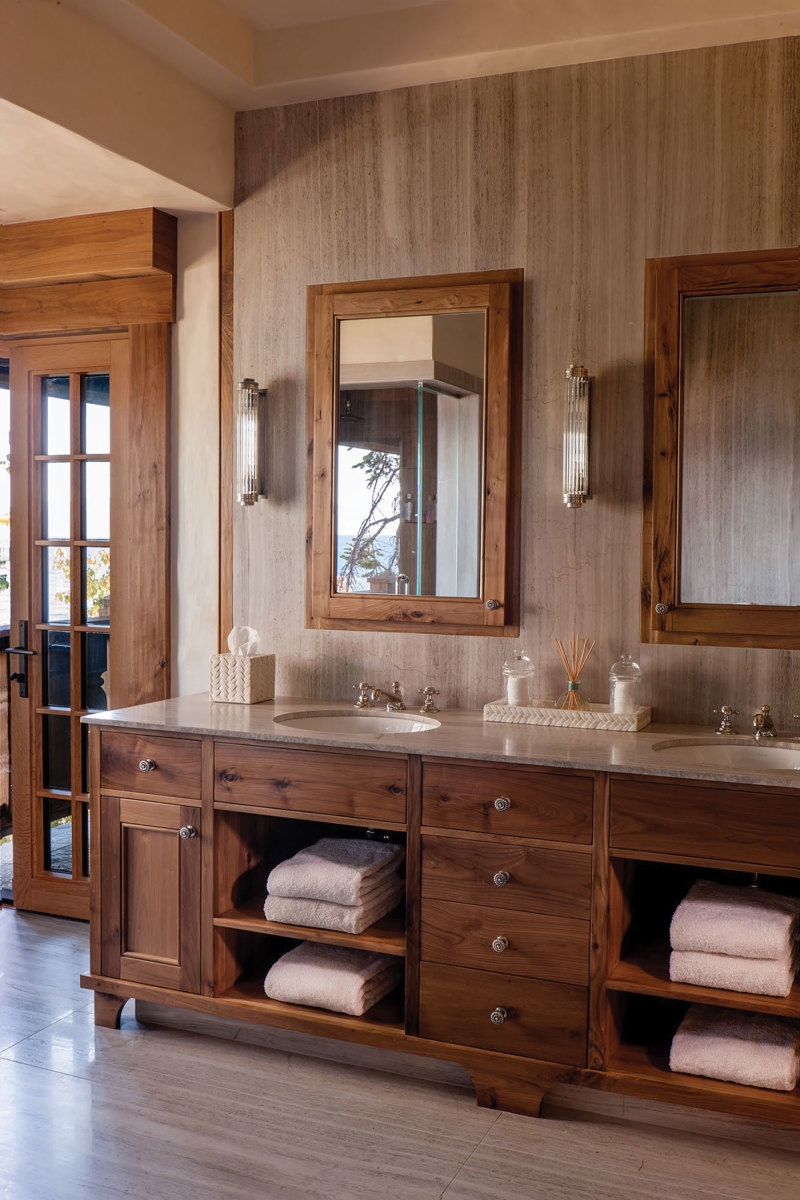 Heartwood's customers favor the natural wood look and finishing can be a challenge.