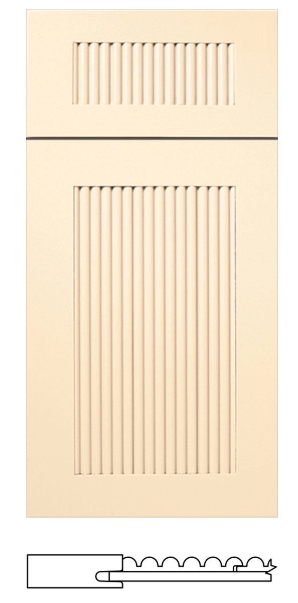 WalzCraft's S245 Palisades reeded door.