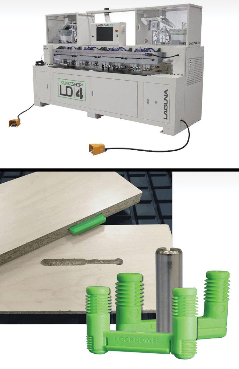 Laguna's SmartShop LD4 and Lockdowel connectors.