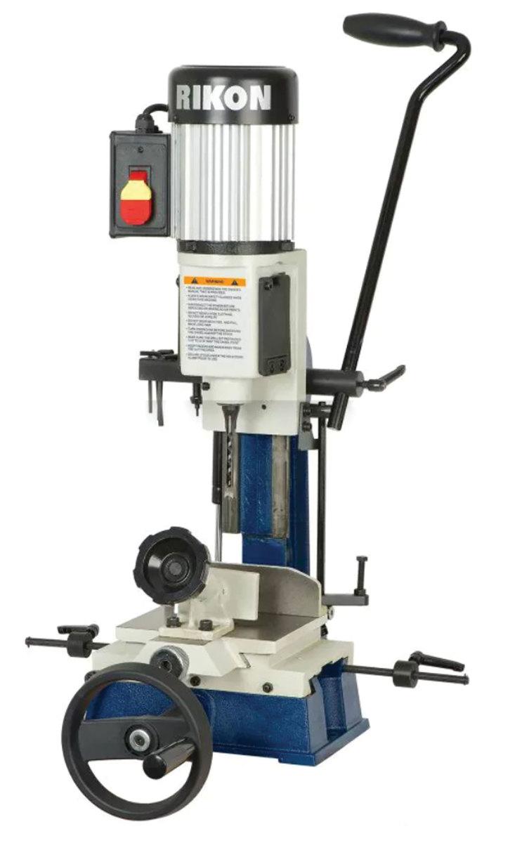 Felder's Kappa 590 e-motion table saw and the Rikon benchtop X-Y mortiser.
