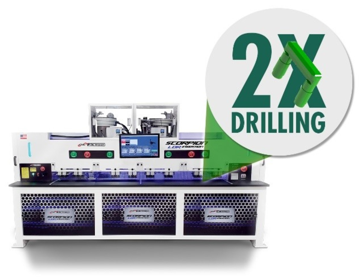The patent-pending, 5G CNC dual-drilling technology reduces dowel insertion processing time by more than 50%.
