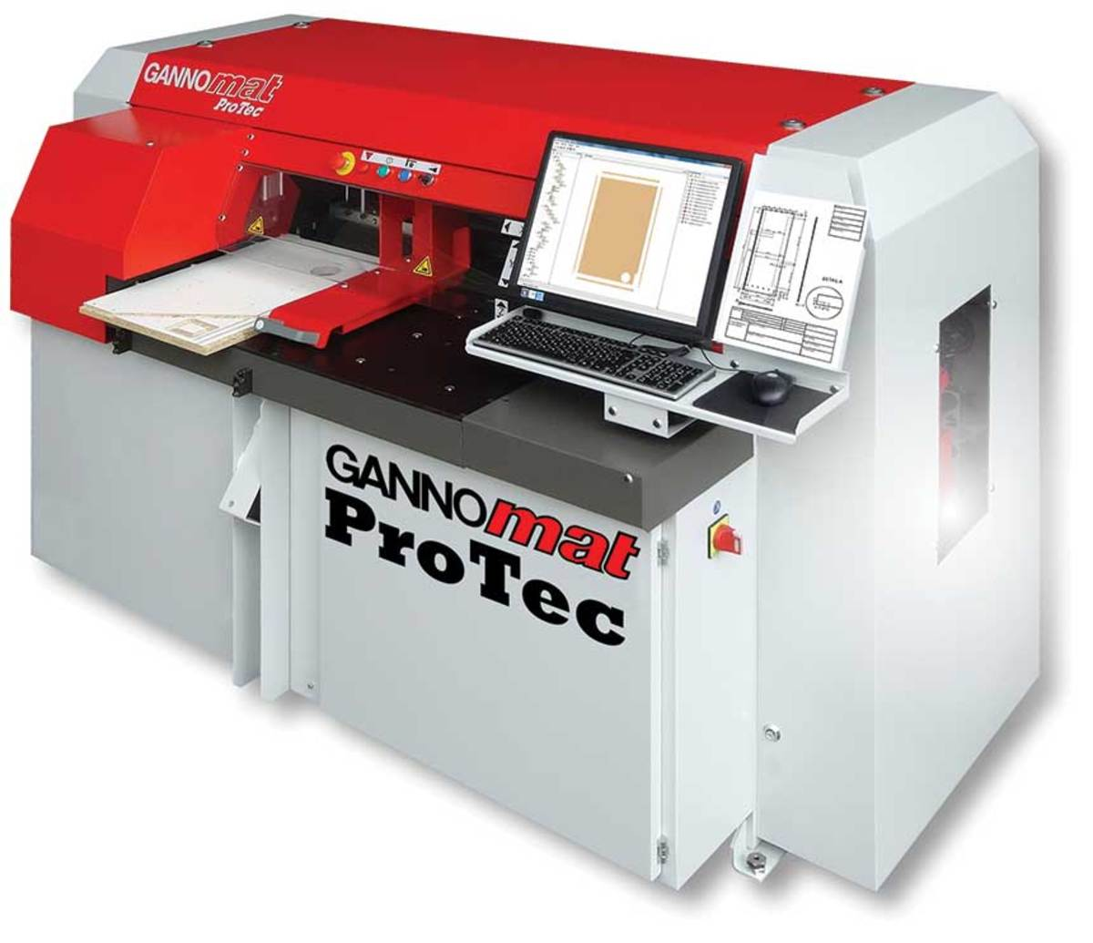 The ProTec can be programmed at the machine and unloaded at the front or rear.