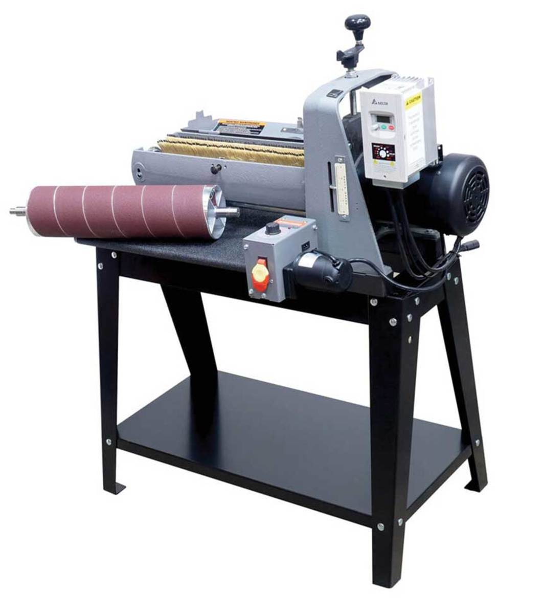 The SuperMax 19-38 brush/drum sander, available from Laguna Tools.
