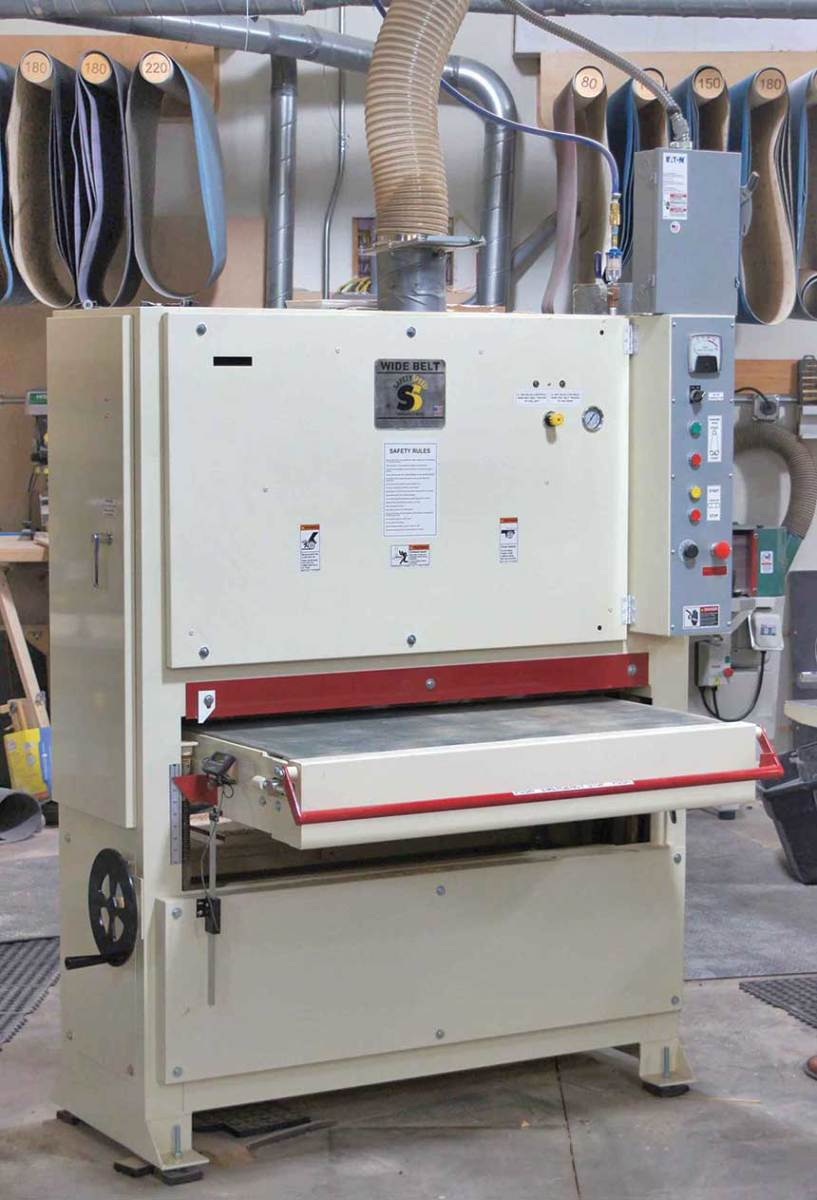 Safety Speed's model 4375 wide belt sander.