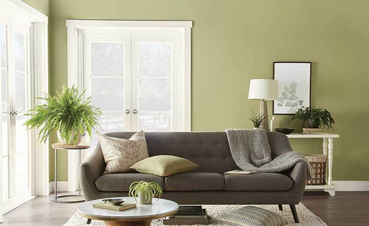 This shade of green, Back to Nature,  is Behr Paint's Color of the Year.
