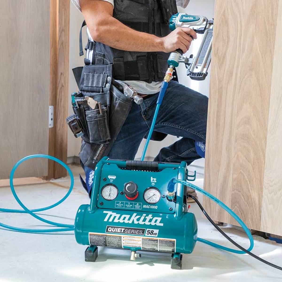Makita's new Quiet Series air compressor.