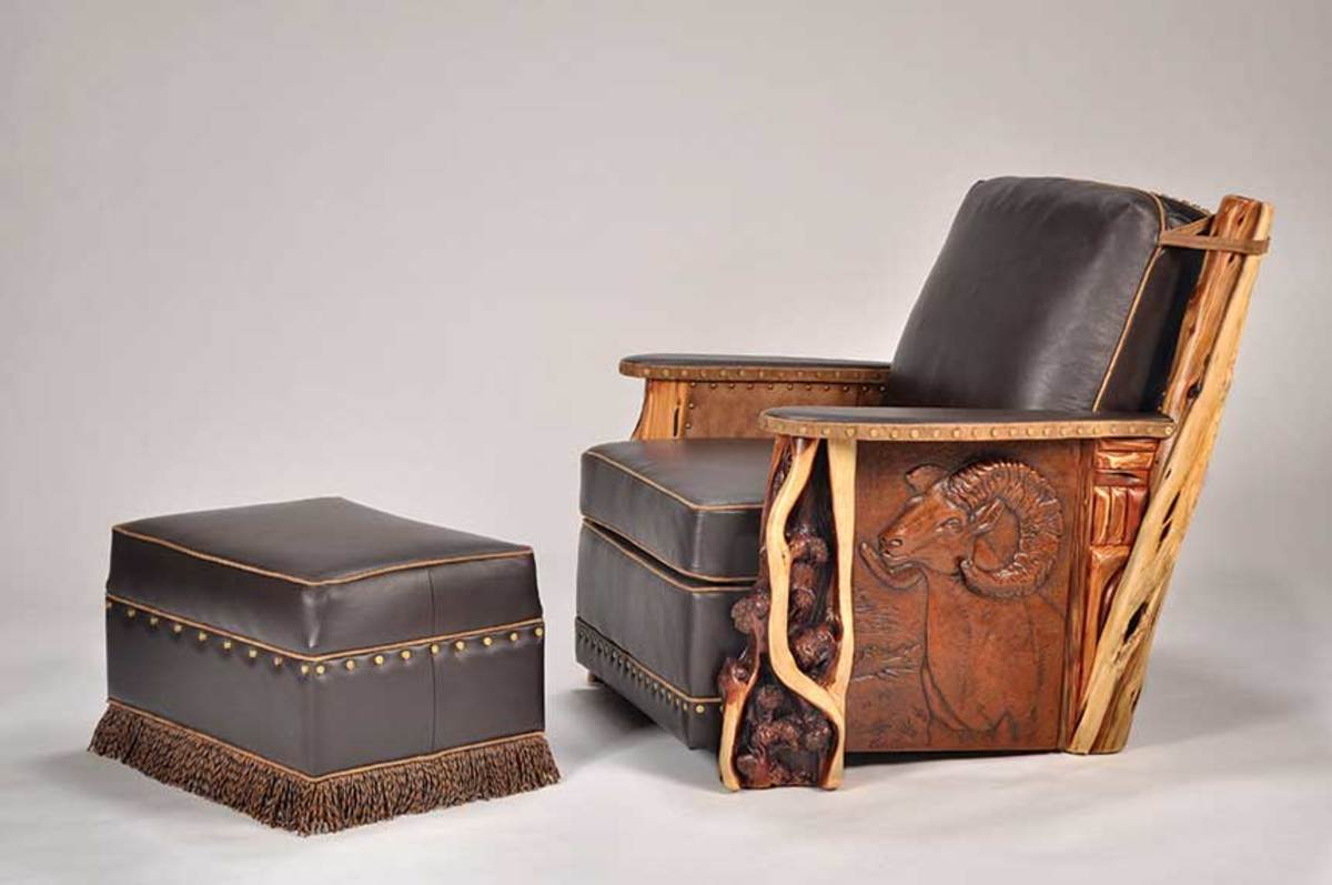 Leather furniture by Norseman Designs West