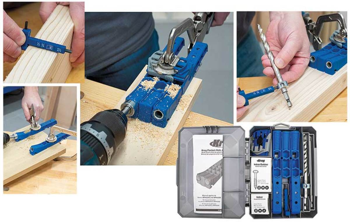 Kreg has introduced the Pocket Hole Jig 320 with two drill guides that can be used individually, as a pair or with a spacer between.
