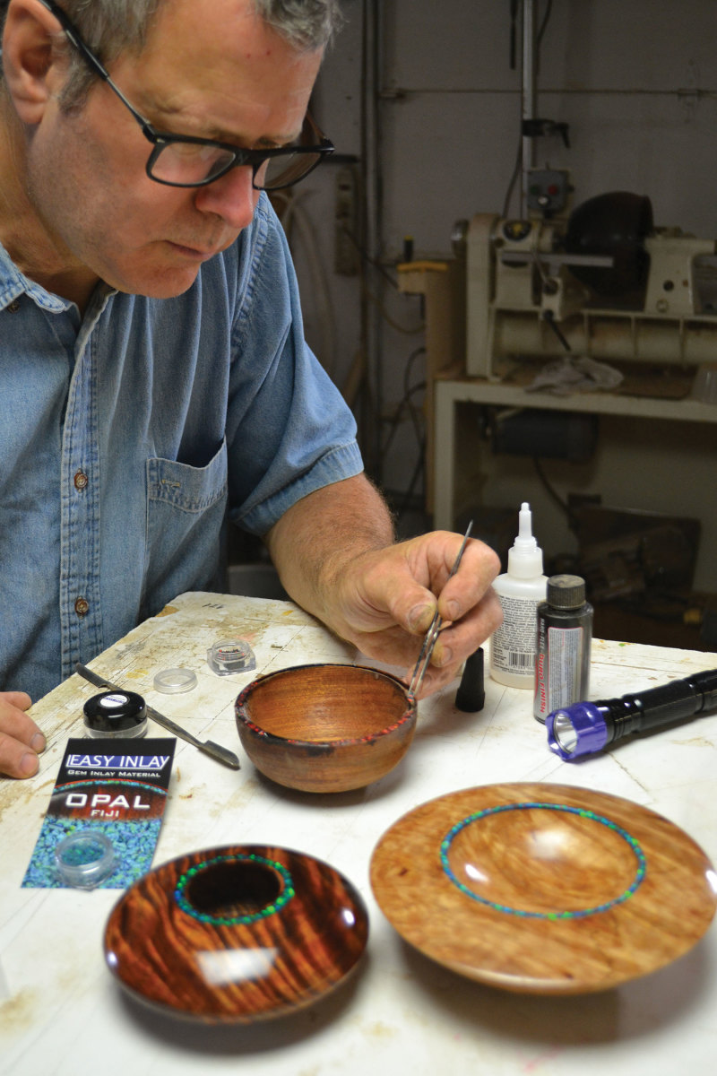 Grove operates Easy Inlay, a source for  exotic inlay materials.
