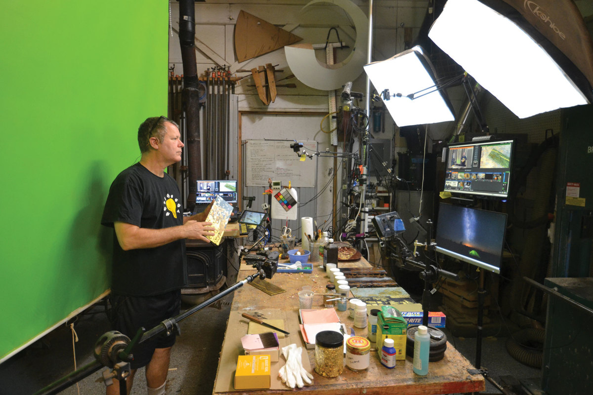 Grove in his five-camera studio.