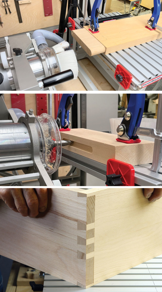 The template-guided PantoRouter can mill almost any joint.