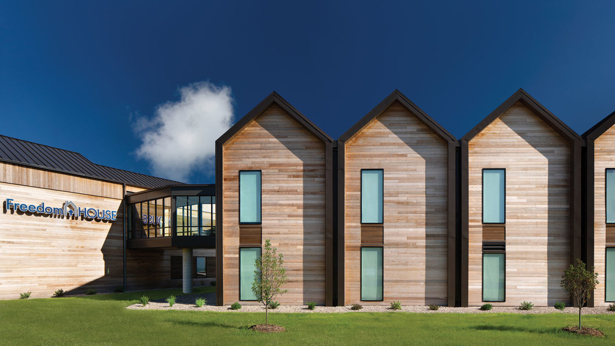 Freedom House Expansion in Green Bay, Wis., winner of the Jury's Choice Award. Developer/owner: Freedom House Ministries Green Bay Architect: Berners Schober Structural engineer: raSmith Contractor: Immel Construction