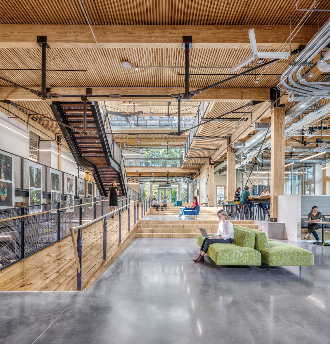 The Kendeda Building forInnovative Sustainable Design, winnerof the Green Building with Wood category Architect: The Miller Hull Partnership,in collaboration with Lord Aeck Sargent, a Katerra  Co. Structural engineer:  Uzun + Case
