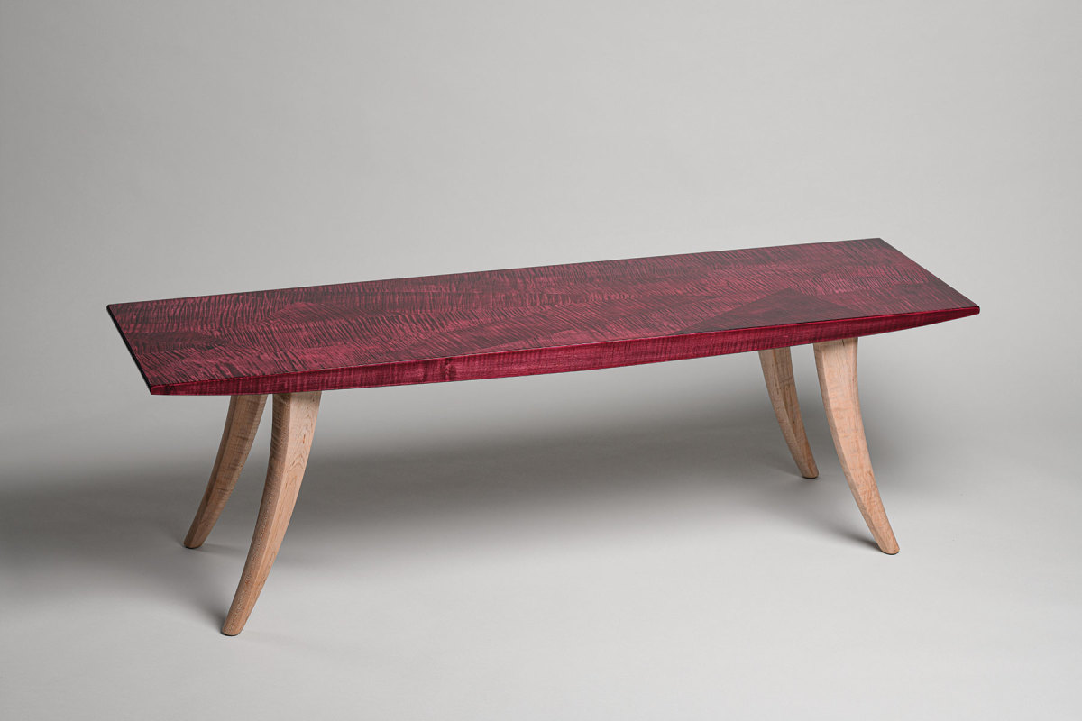 """Tim Coleman's """"Ruby Bench"""" in the NHFMA exhibit."""