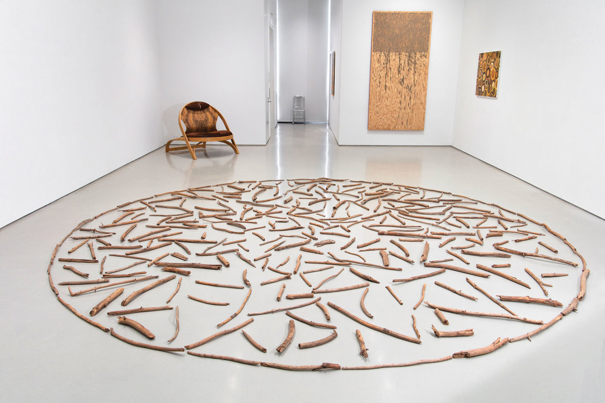 """Richard Long's """"Quantock Wood Circle"""" from the Sperone Westwater exhibit"""