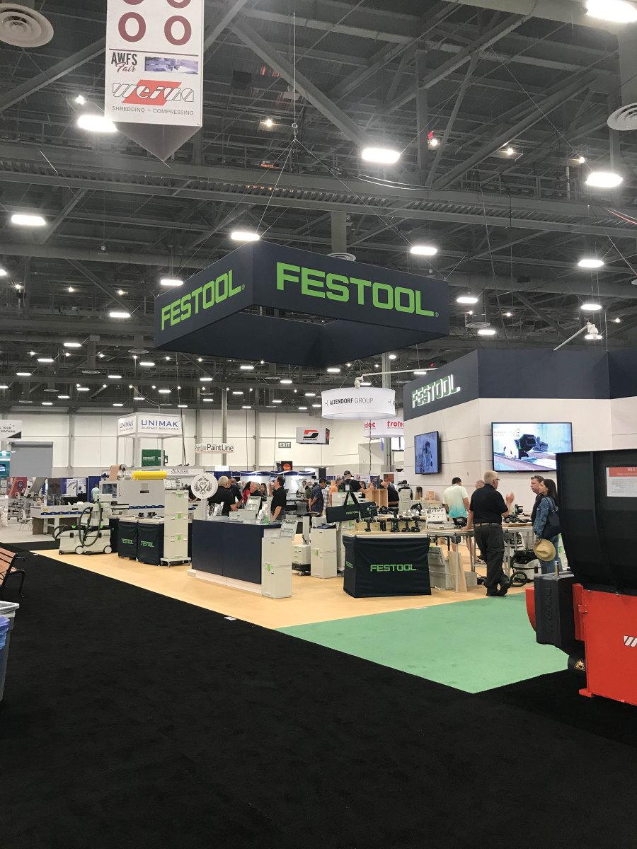 Festool's booth at the 2021 AWFS Fair.